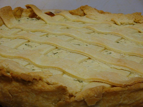 Куриный пирог с решёткой