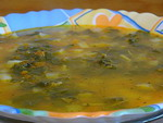 Постный ревеневый суп