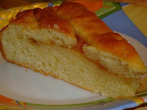 Творожный пирог с джемом