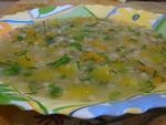 Густой суп с перловкой и овощами