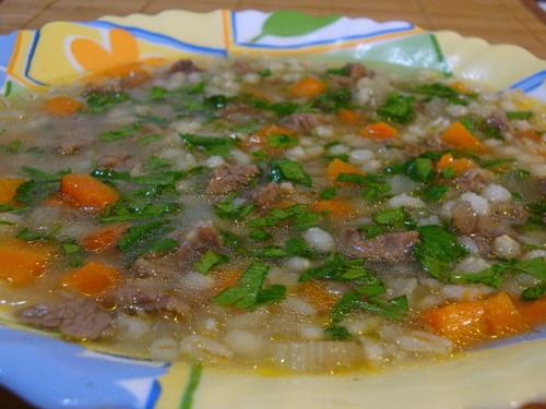 Перловый суп с бараниной