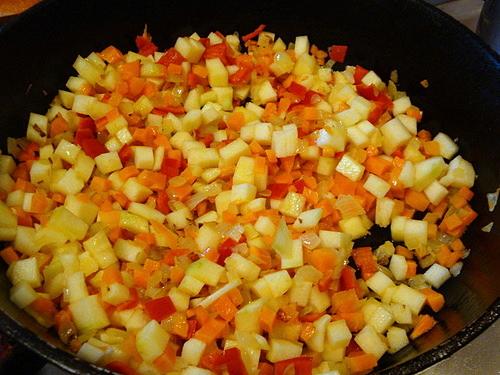 Кускус с овощами и морепродуктами